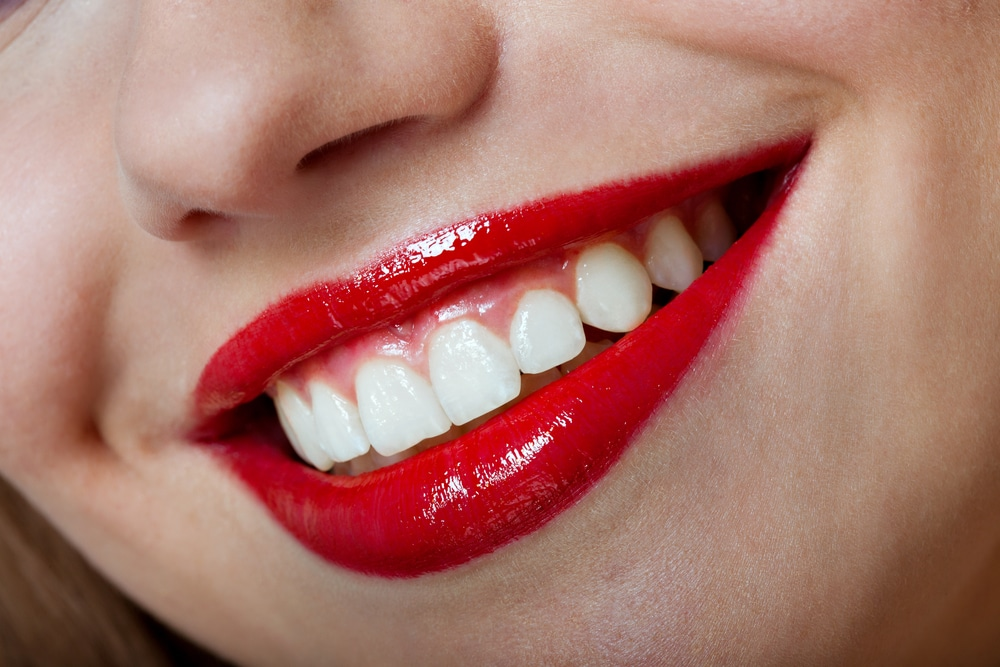 perfect smile healthy teeth cheerful young woman