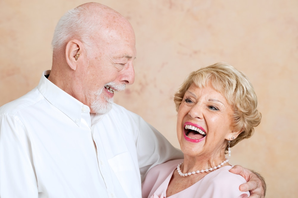 Smiling Seniors with Dentures Raleigh NC