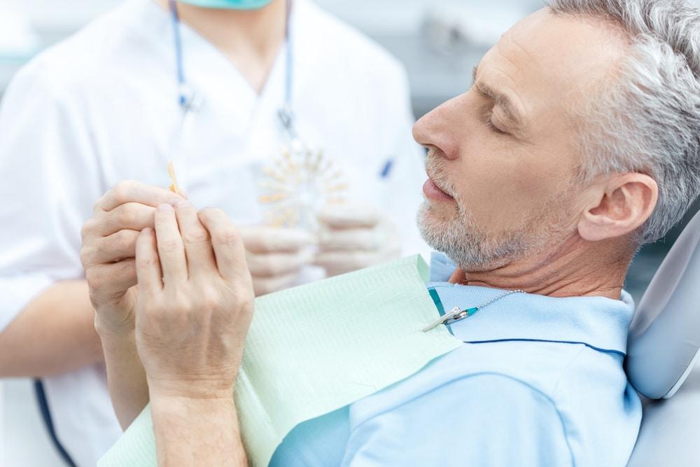 Mature Man At Dental Office