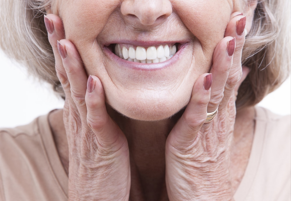 Smiling Senior with Dentures